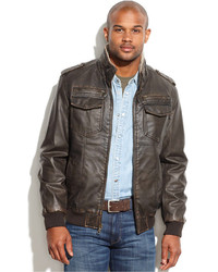 Tommy Hilfiger Faux Leather Military Bomber