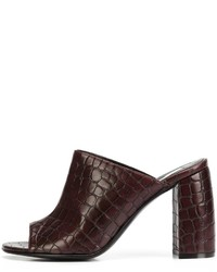 Stella McCartney Crocodile Effect Mules