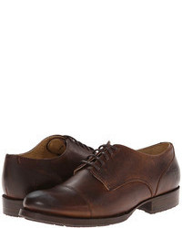 Dark Brown Leather Oxford Shoes