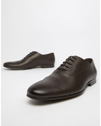 Office Flounder Toe Cap Oxford Shoes In Brown Leather