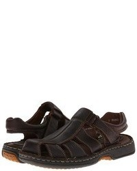 Dark Brown Leather Sandals