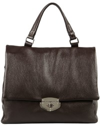 Dark Brown Leather Satchel Bag