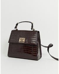ASOS DESIGN Croc City Bag With Plate Detail