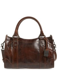 Frye Melissa Washed Leather Satchel Brown