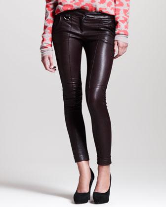 A.L.C. Daniel Cropped Leather Skinny Pants