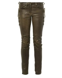 Isabel Marant Haper Skinny Leg Leather Trousers