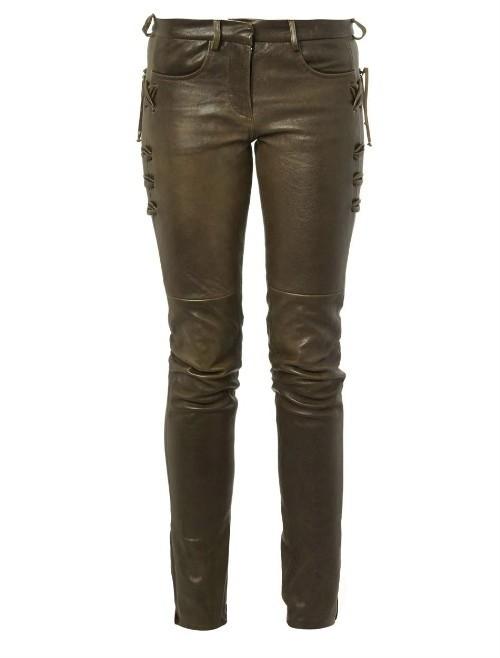 Isabel Marant Haper Skinny Leg Leather Trousers