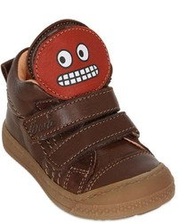 Dark Brown Leather Sneakers