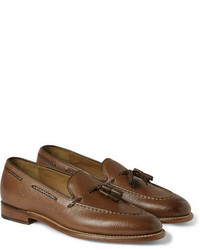 Grenson Scott Tasselled Grained Leather Loafers