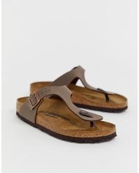 Birkenstock Gizeh Sandals In Mocca