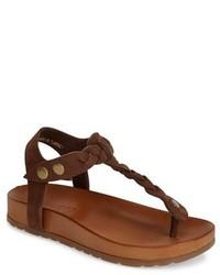 Jocelyn braided leather thong sandal medium 197273