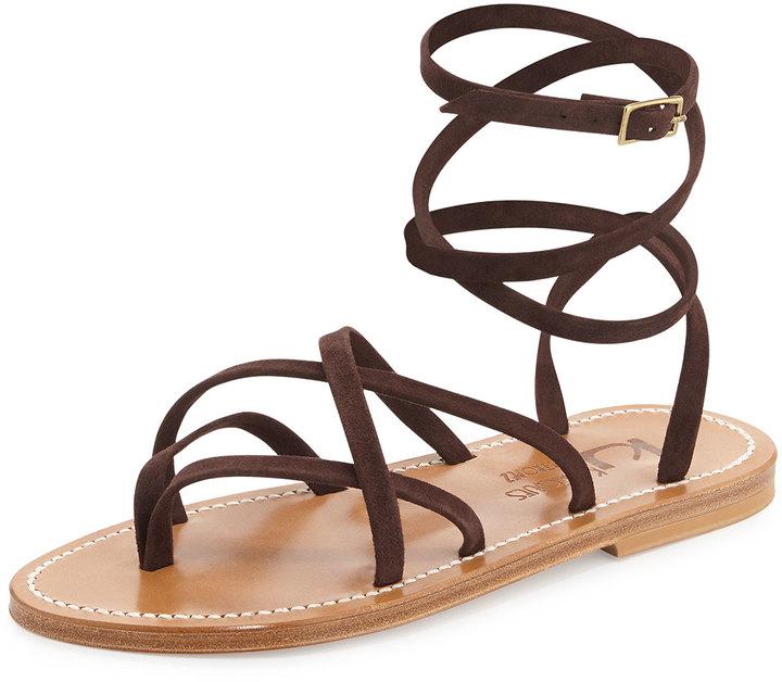 d27b7b449185d K. Jacques Zenobie Crisscross Lace Up Sandal, £226 | Bergdorf ...