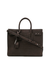 Saint Laurent Crocodile Embossed Sac De Jour Tote