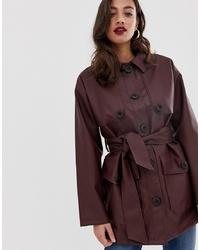 ASOS DESIGN Leather Look Utility Jacket
