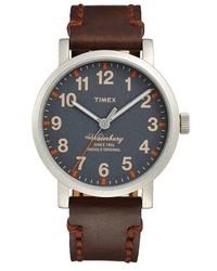 Dark Brown Leather Watch