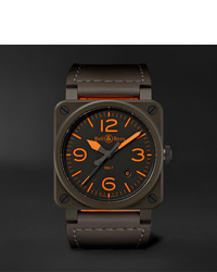 Bell & Ross Br 03 92 Ma 1 Limited Edition Automatic 42mm Ceramic And Leather Watch