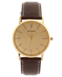 Sekonda Brown Leather Watch