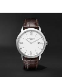 Baume & Mercier Classima Quartz 40mm Steel And Croc Effect Leather Watch Ref No M0a10507