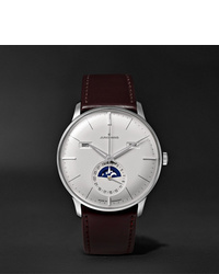 Junghans Meister Kalender 40mm Stainless Steel And Leather Watch Ref No 027420001
