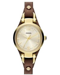 Fossil Small Georgia Leather Strap Watch 26mm