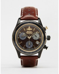 Vivienne Westwood Sotherby Leather Watch Vv142brbr