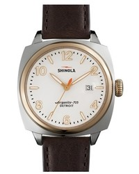 Shinola The Brakeman Leather Strap Watch 40mm