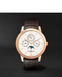 Vacheron Constantin Traditionnelle Perpetual Calendar Automatic 41mm 18 Karat Pink Gold And Alligator Watch Ref No 43175000r 9687