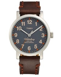 Timex Waterbury Leather Strap Watch 40mm