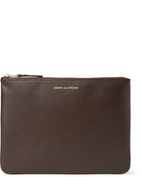 Dark Brown Leather Zip Pouch