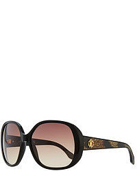 Roberto Cavalli Taj Soft Square Sunglasses Blackleopard
