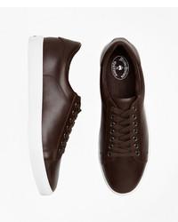 Dark Brown Low Top Sneakers