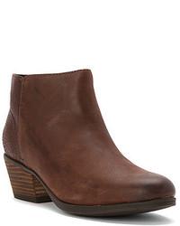 Dark Brown Nubuck Ankle Boots