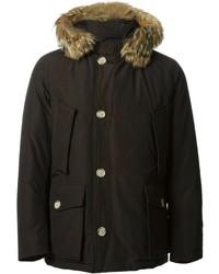 Arctic fur trimmed parka medium 144180