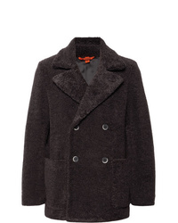 Barena Double Breasted Faux Shearling Peacoat