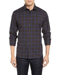 Heather plaid sport shirt medium 1247771
