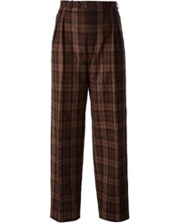 Saint Laurent Yves Vintage Checked Trousers