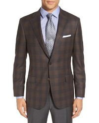 Hickey Freeman Beacon Classic Fit Plaid Wool Sport Coat
