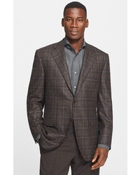 Canali Classic Fit Plaid Sport Coat