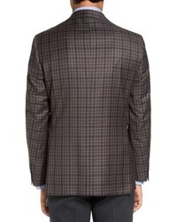 David Donahue Connor Classic Fit Plaid Wool Sport Coat