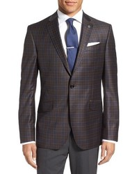 Ted Baker London Jones Trim Fit Plaid Wool Sport Coat