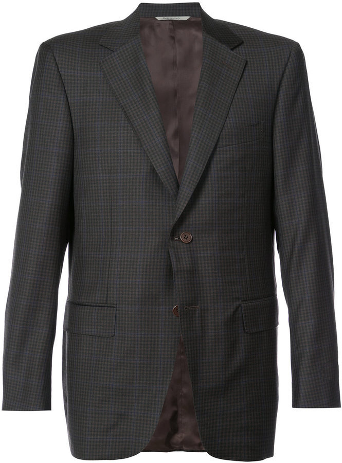 Canali Plaid Tailored Jacket