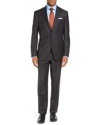 David Donahue Big Tall Ryan Classic Fit Plaid Wool Suit