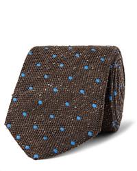 8cm polka dot wool and silk blend tie medium 791395