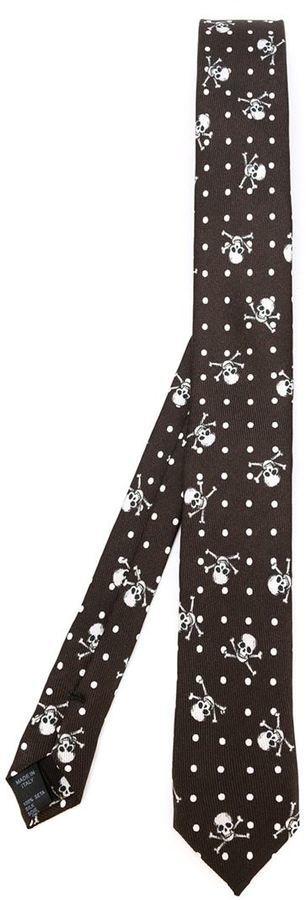 Dolce & Gabbana Skull Cross Bone Print Tie
