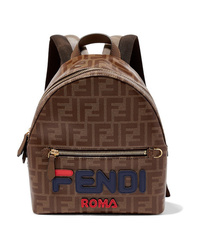 Fendi Med Printed Canvas Backpack