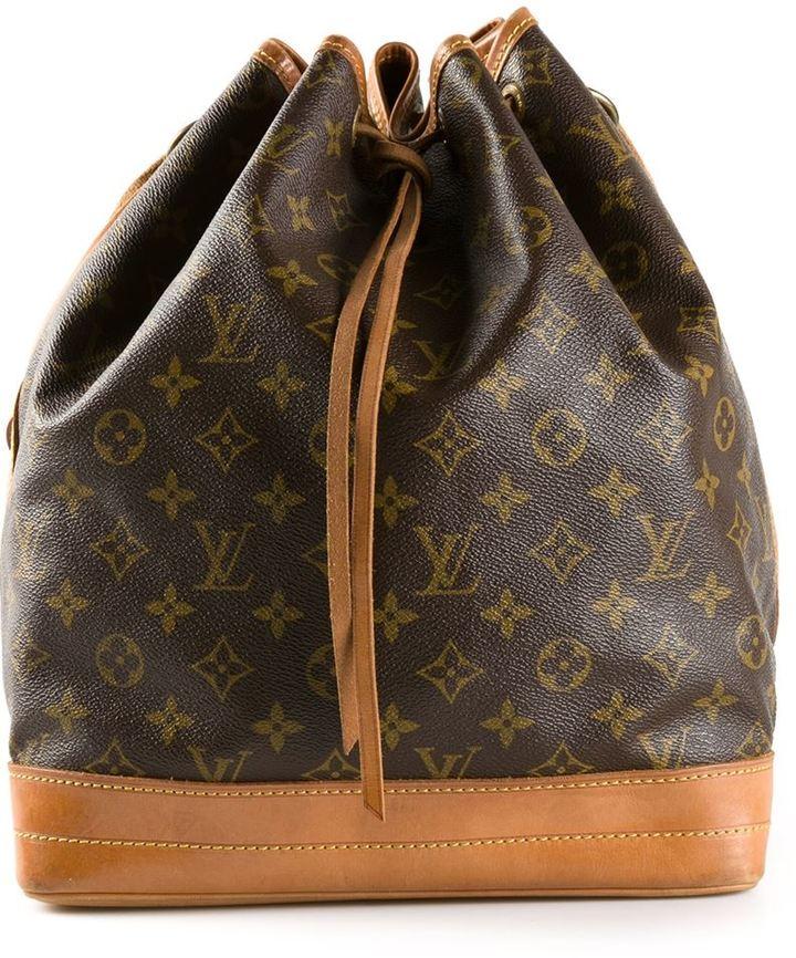 e8857c0dda9e ... Brown Print Leather Backpacks Louis Vuitton Vintage Monogram Noe Bag