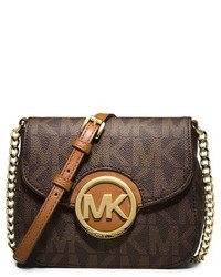 Michl michl kors fulton crossbody bag brown medium 251426