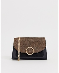 New Look Ring Detail Cross Body Bag In Cheetah