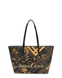Versace Jeans Baroque Print Shopper Tote