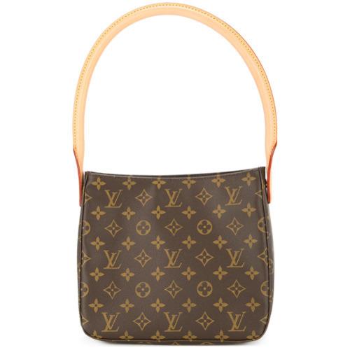 396c8bafa8bf ... Brown Print Leather Tote Bags Louis Vuitton Vintage Looping Mm Shoulder  Bag ...